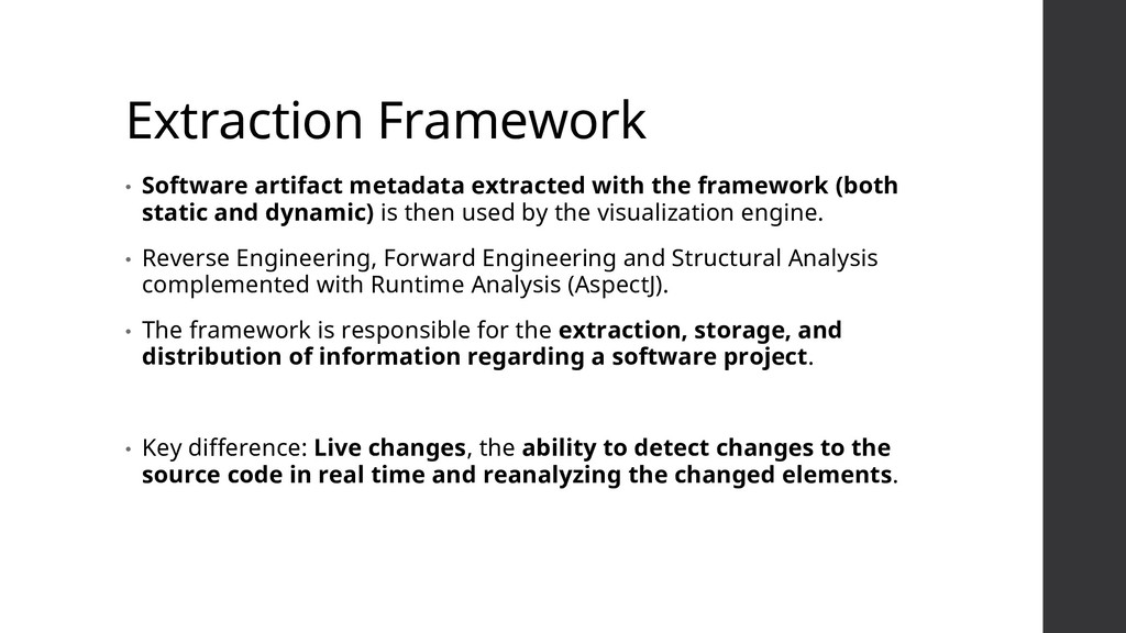 Extraction Framework • Software artifact metada...