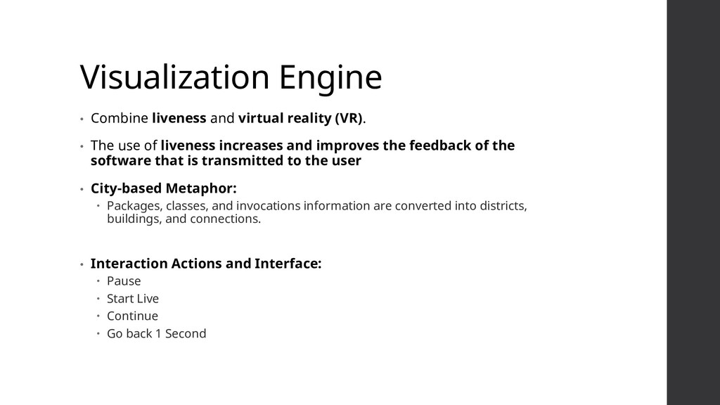 Visualization Engine • Combine liveness and vir...