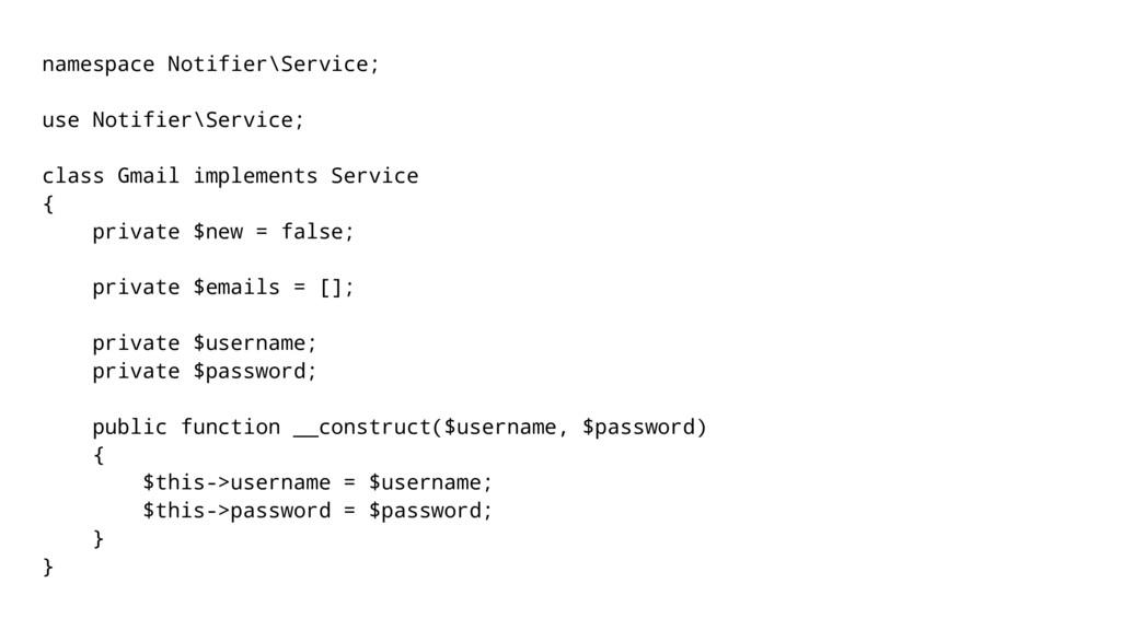 namespace Notifier\Service; use Notifier\Servic...