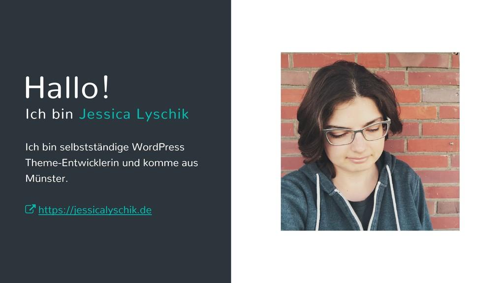 Ich bin selbstständige WordPress Theme-Entwickl...