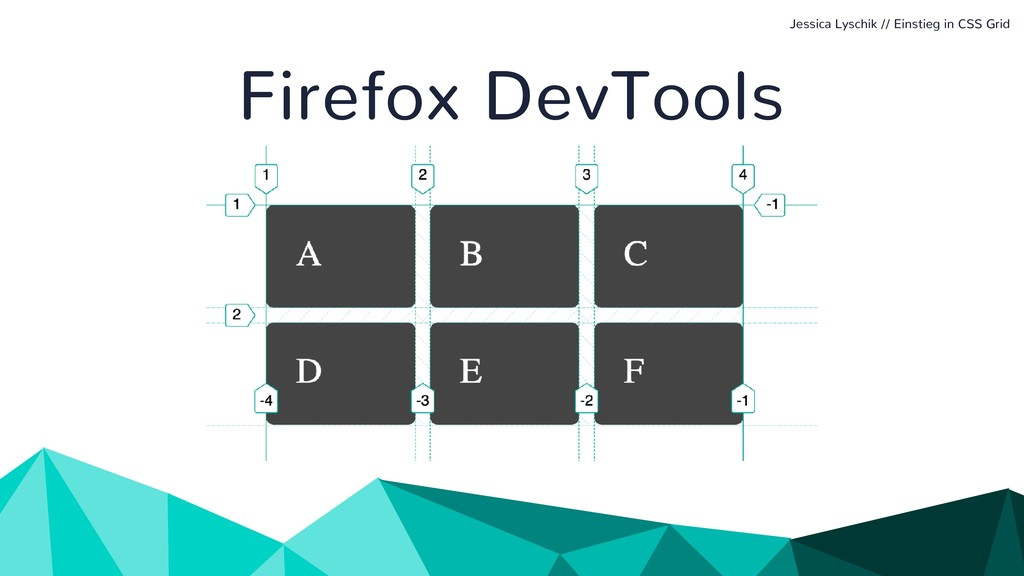Jessica Lyschik // Einstieg in CSS Grid Firefox...