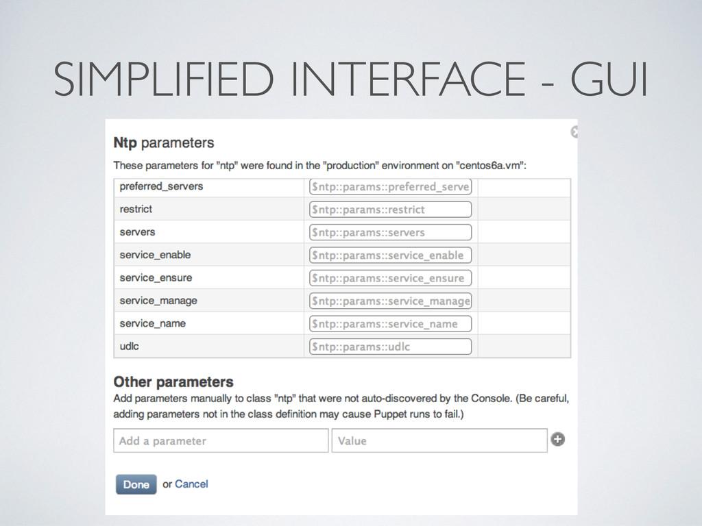 SIMPLIFIED INTERFACE - GUI