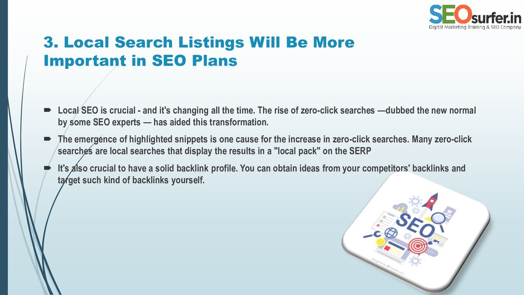 3. Local Search Listings Will Be More Important...