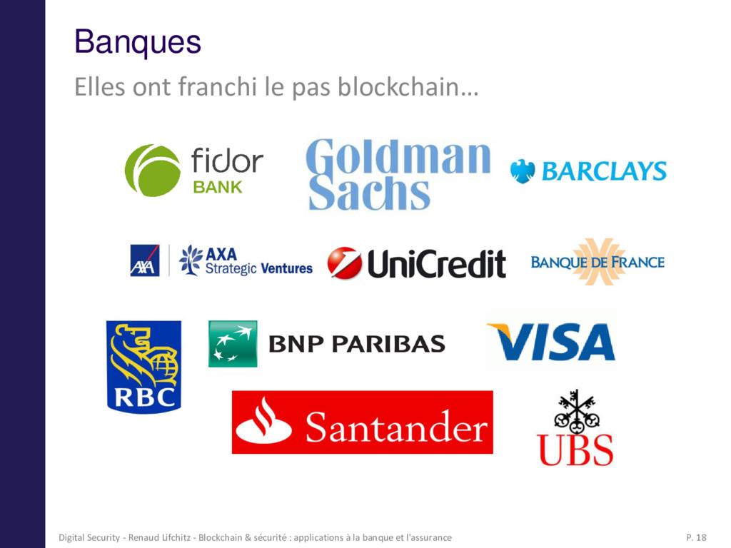 Banques Elles ont franchi le pas blockchain… 18...