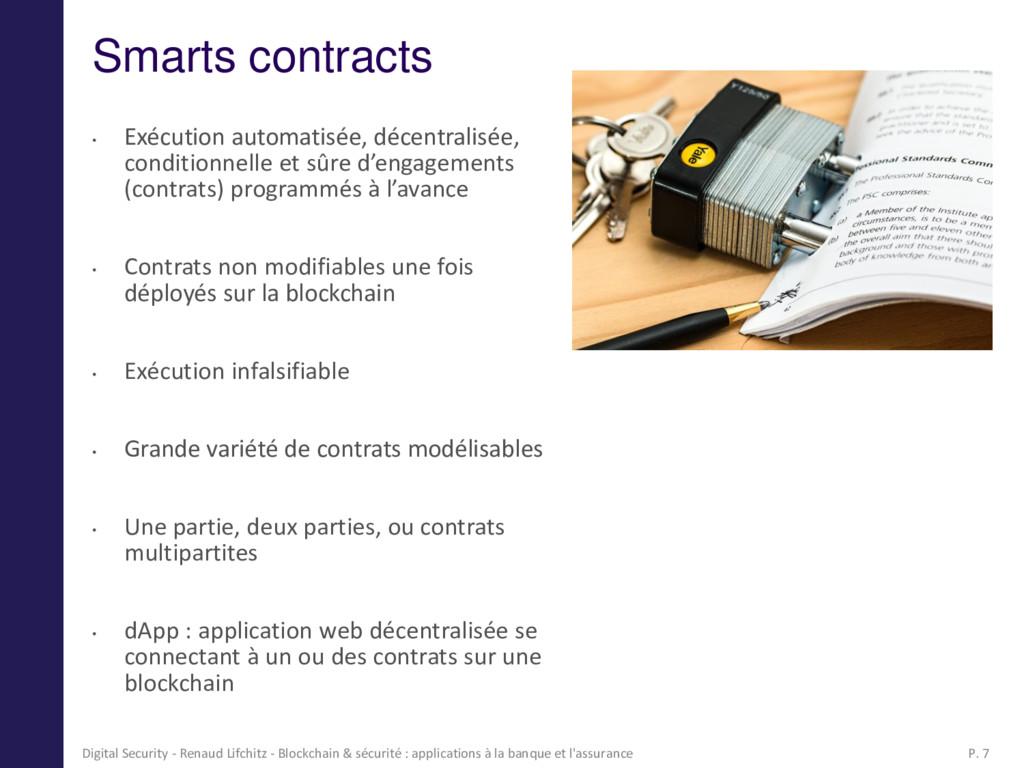 Smarts contracts • Exécution automatisée, décen...