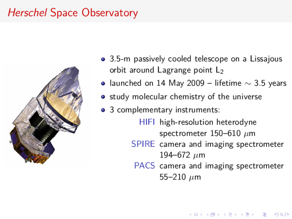 Herschel Space Observatory 3.5-m passively cool...