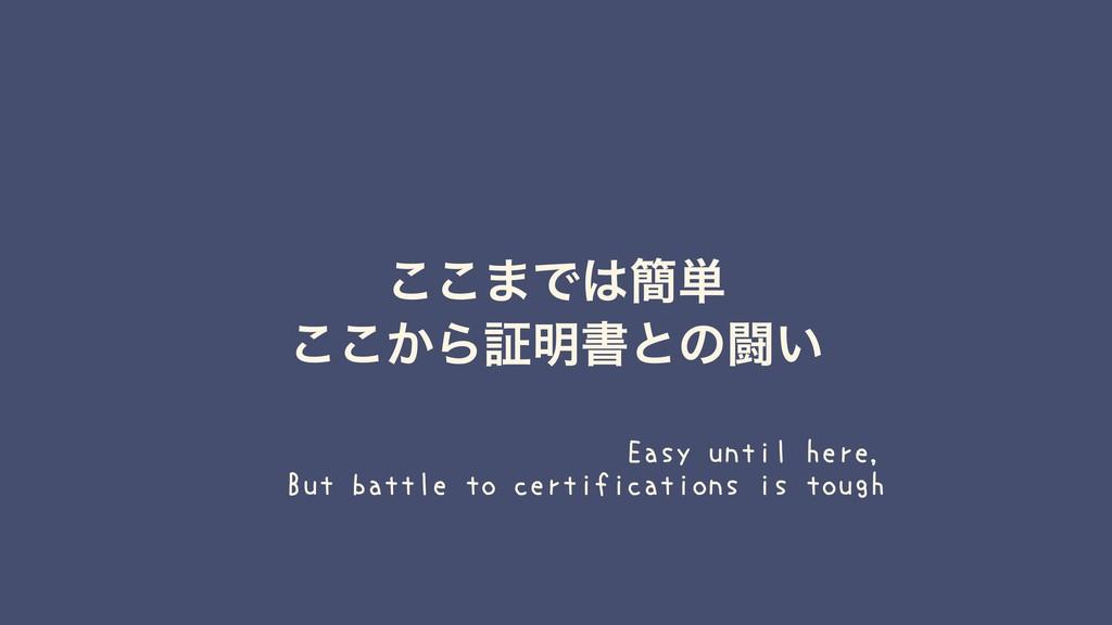 ͜͜·Ͱ؆୯ ͔͜͜Βূ໌ॻͱͷಆ͍ Easy until here, But battle...