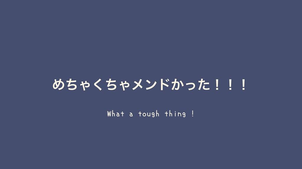 ΊͪΌͪ͘Όϝϯυ͔ͬͨʂʂʂ What a tough thing !
