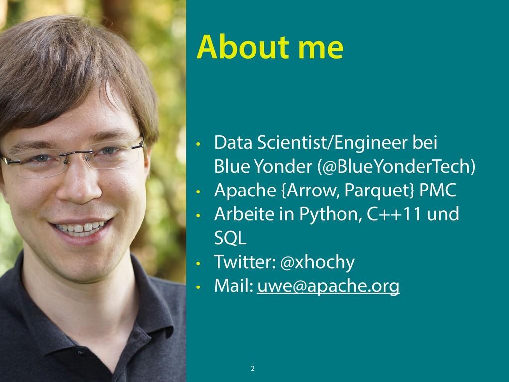 • Data Scientist/Engineer bei Blue Yonder (@Bl...