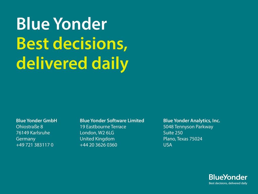 Blue Yonder GmbH Ohiostraße 8 76149 Karlsruhe G...