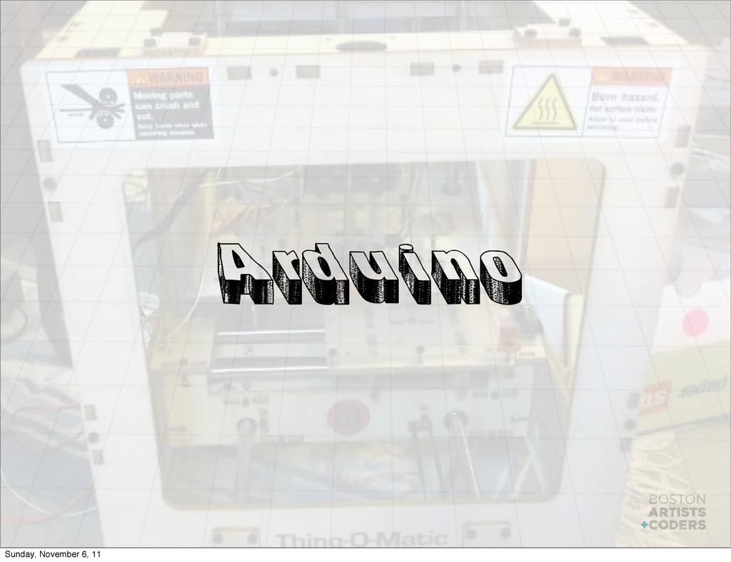 Arduino Sunday, November 6, 11