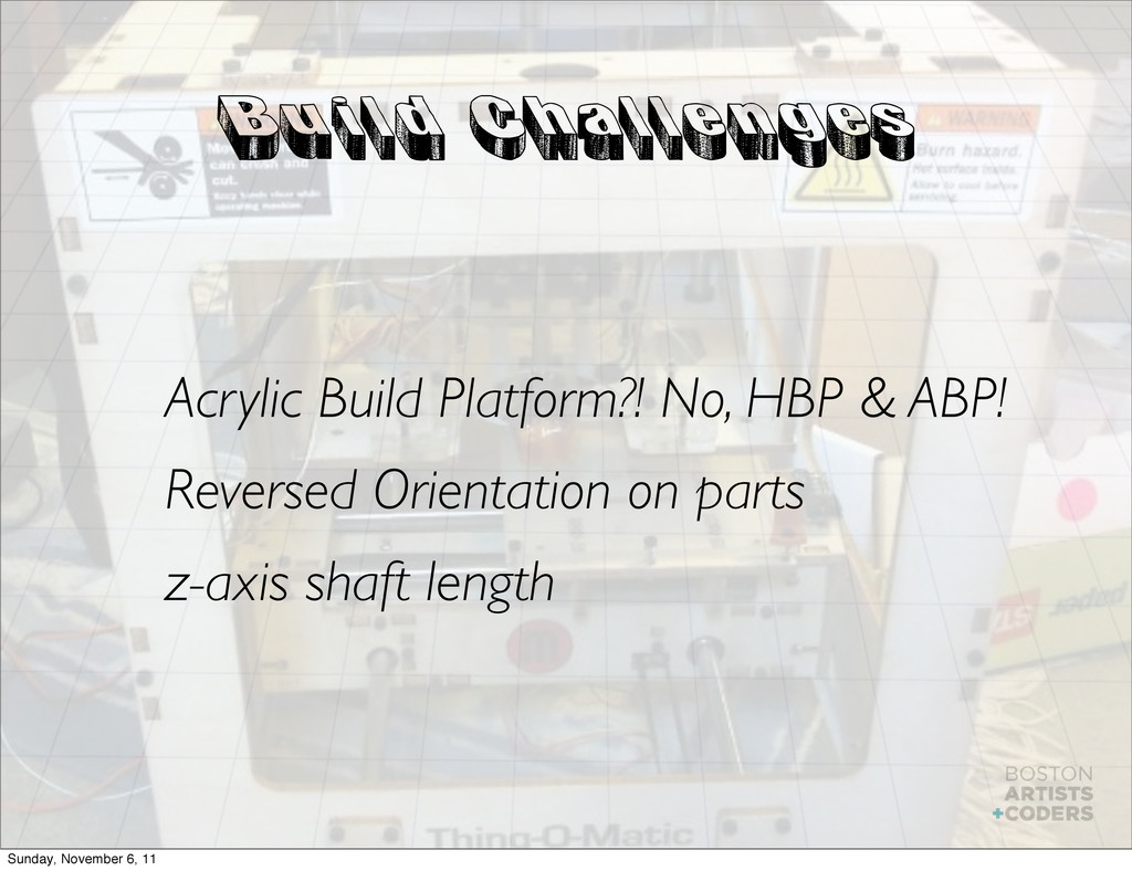 Build Challenges Acrylic Build Platform?! No, H...