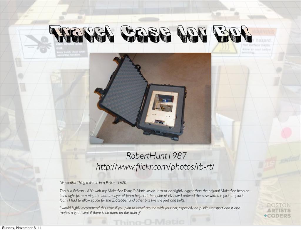 Travel Case for Bot RobertHunt1987 http://www.fl...