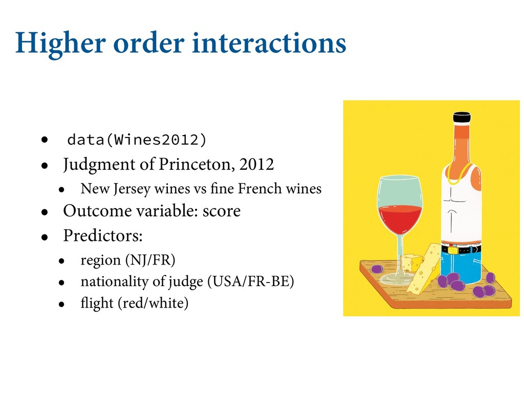 Higher order interactions • data(Wines2012) • J...