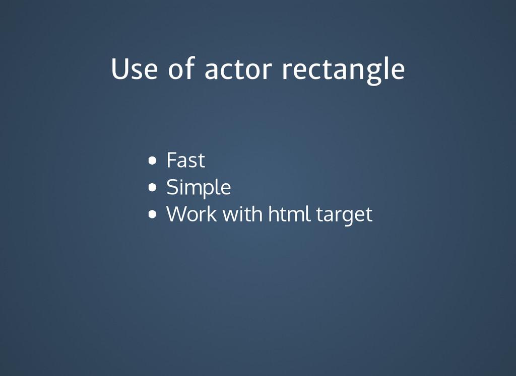 Use of actor rectangle Use of actor rectangle F...