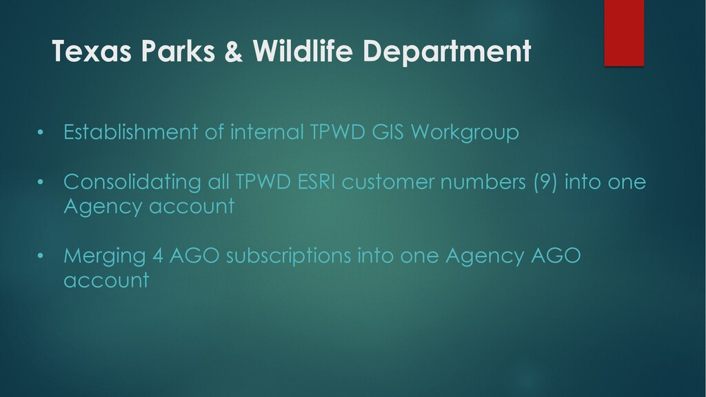 Texas Parks & Wildlife Department • Establishme...
