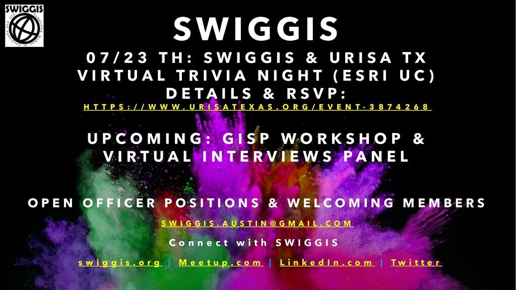 SWIGGIS 0 7 / 2 3 T H : S W I G G I S & U R I S...