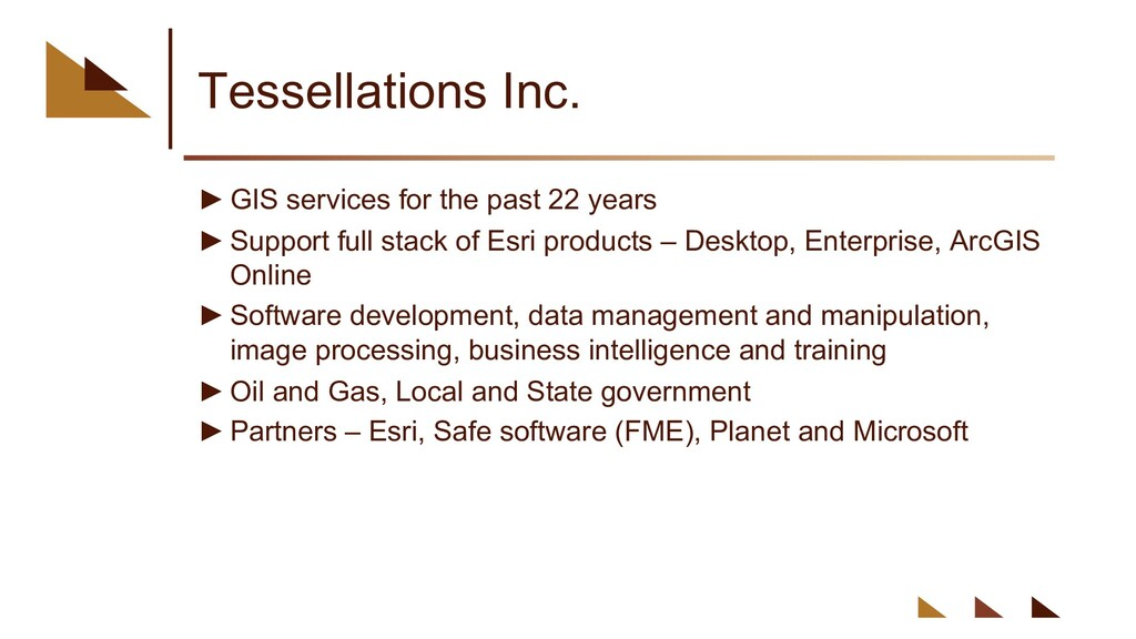 Tessellations Inc. ►GIS services for the past 2...