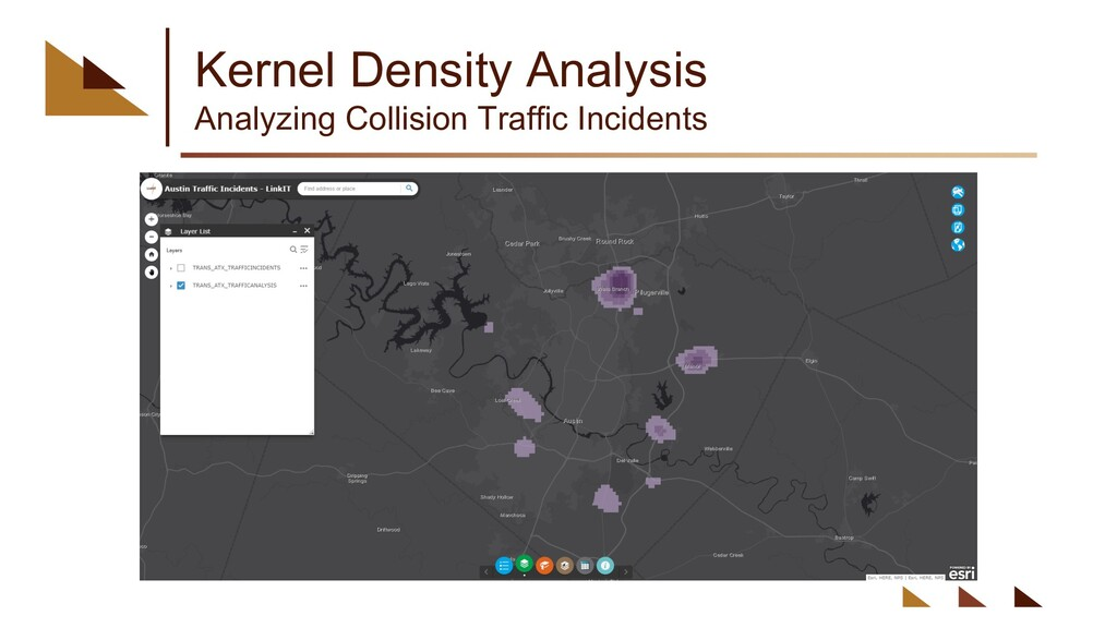 Kernel Density Analysis Analyzing Collision Tra...