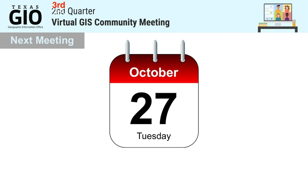 Next Meeting October 27 Tuesday