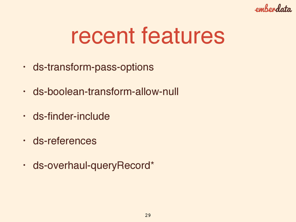 recent features • ds-transform-pass-options • d...