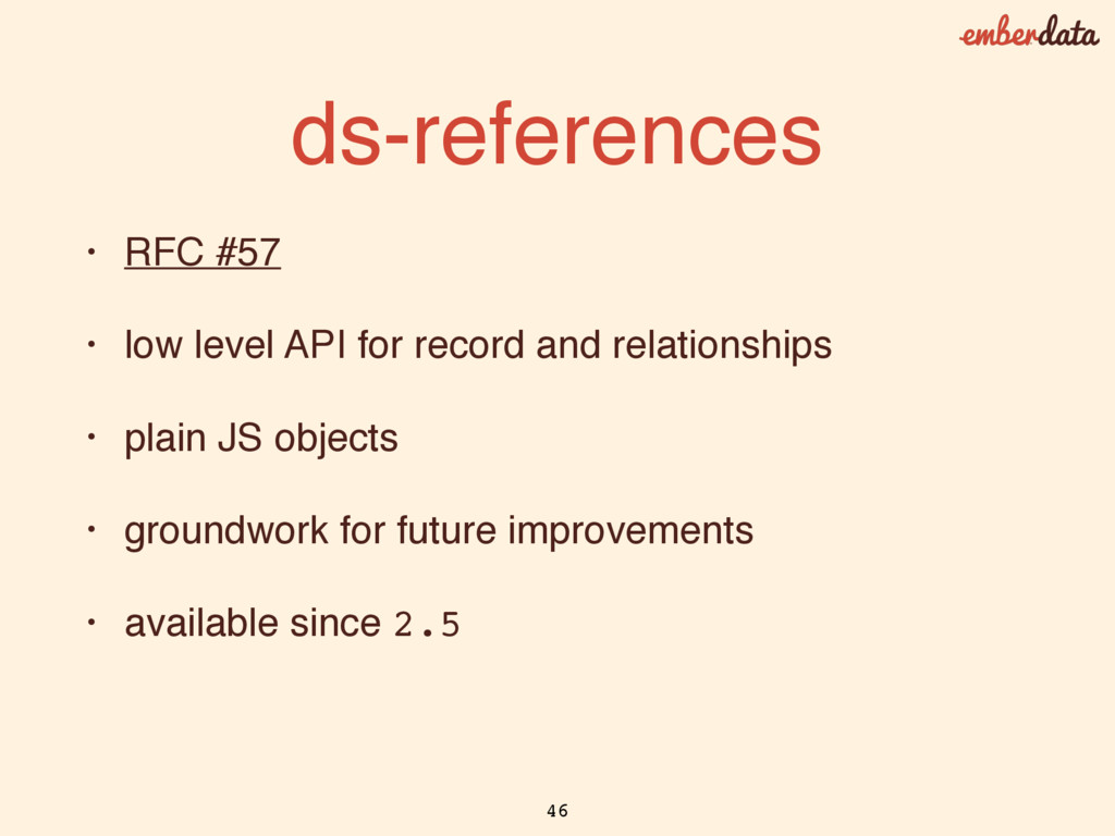 ds-references • RFC #57 • low level API for rec...