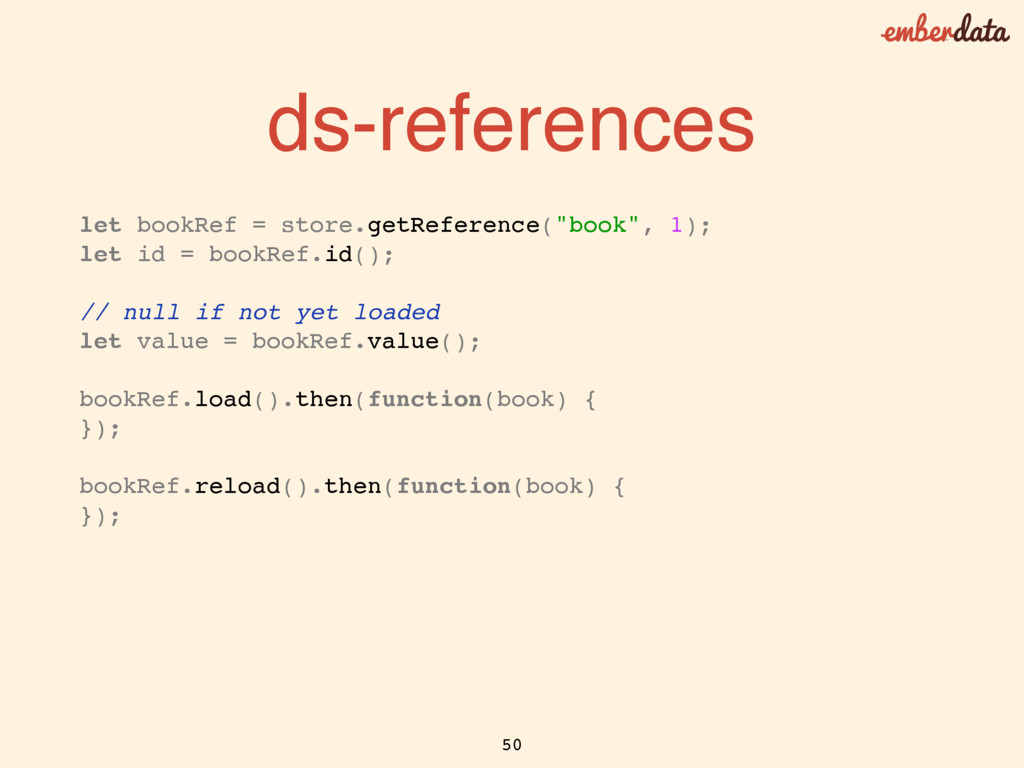 ds-references let bookRef = store.getReference(...