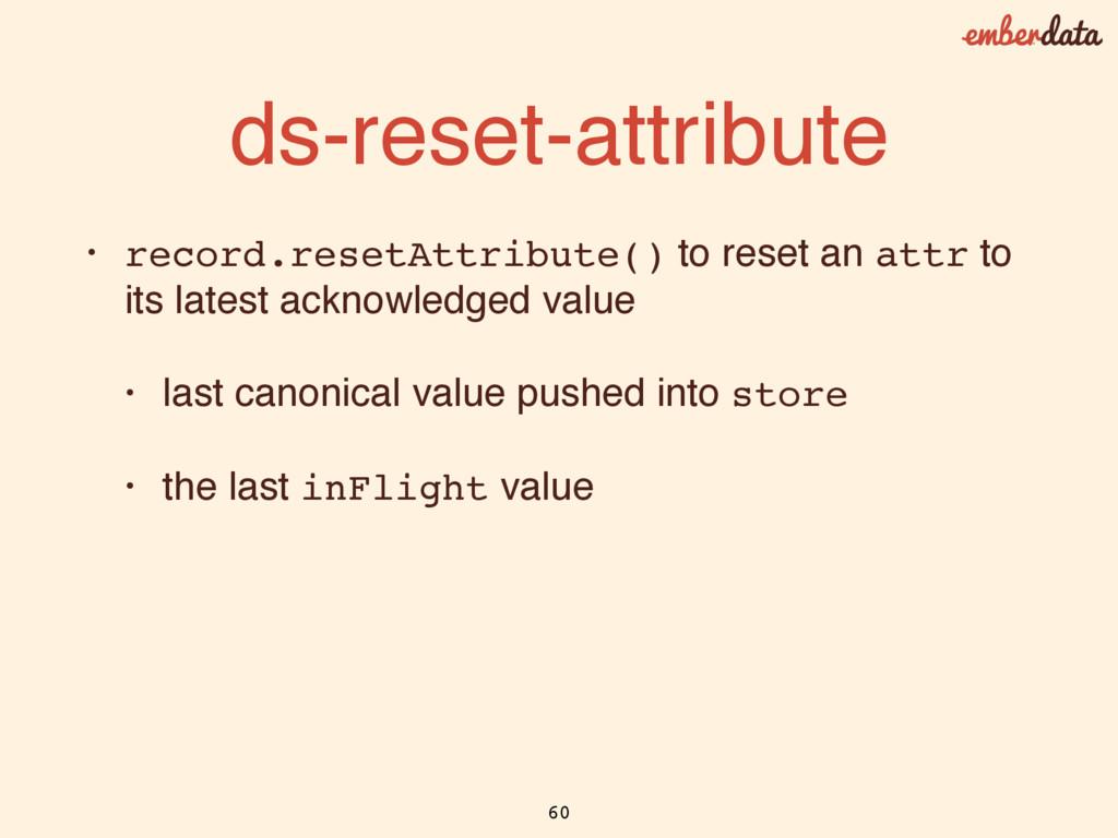 ds-reset-attribute • record.resetAttribute() to...