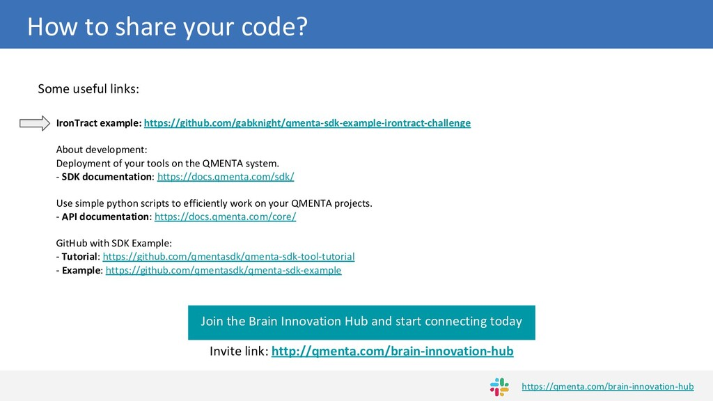 How to share your code? Join the Brain Innovati...