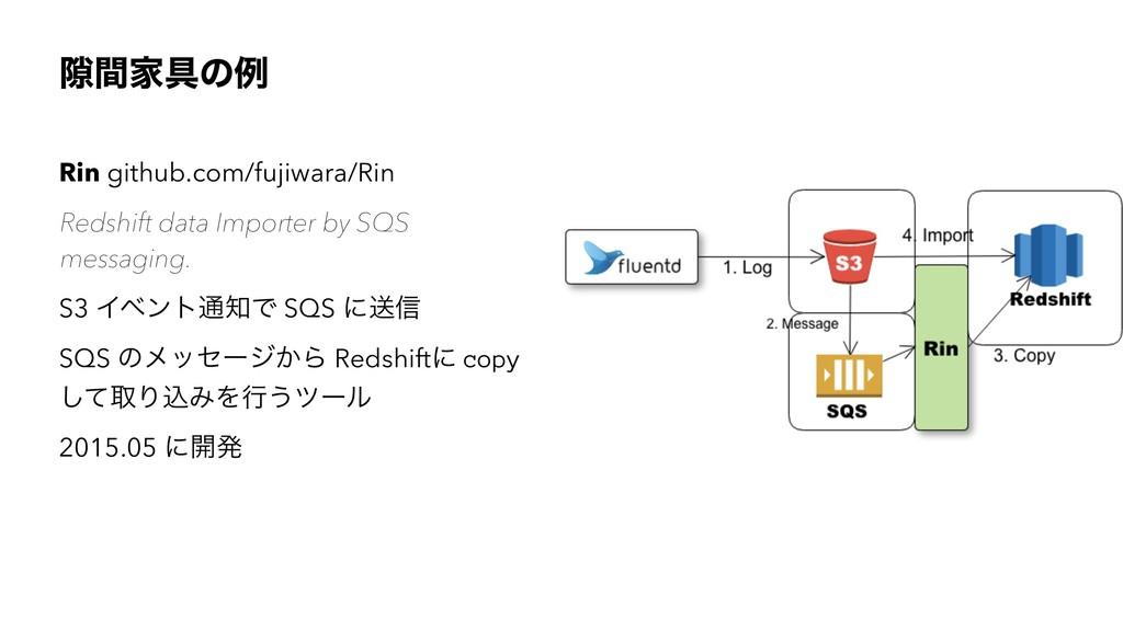 伱ؒՈ۩ͷྫ Rin github.com/fujiwara/Rin Redshift dat...