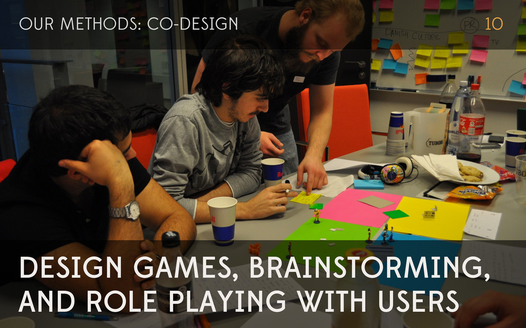 DESIGN GAMES, BRAINSTORMING, AND ROLE PLAYING W...