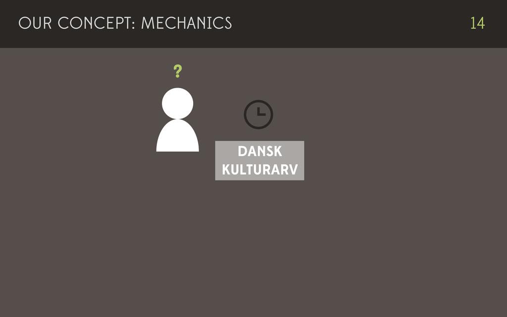 OUR CONCEPT: MECHANICS 14 DANSK KULTURARV ?