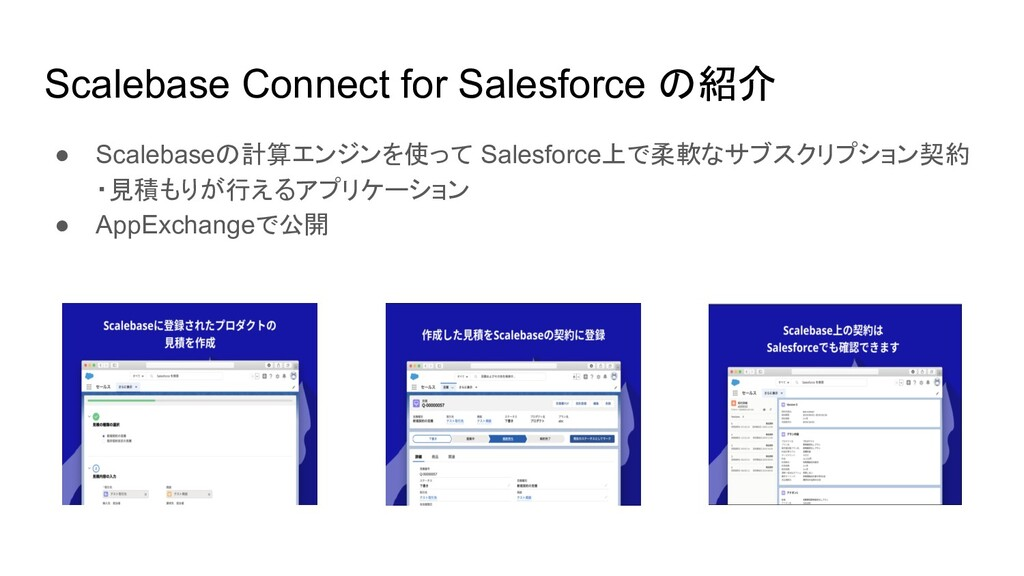 Scalebase Connect for Salesforce の紹介 ● Scalebas...