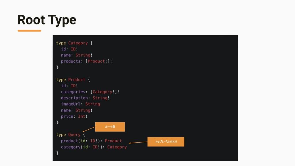Root Type ルート型 トップレベルクエリ