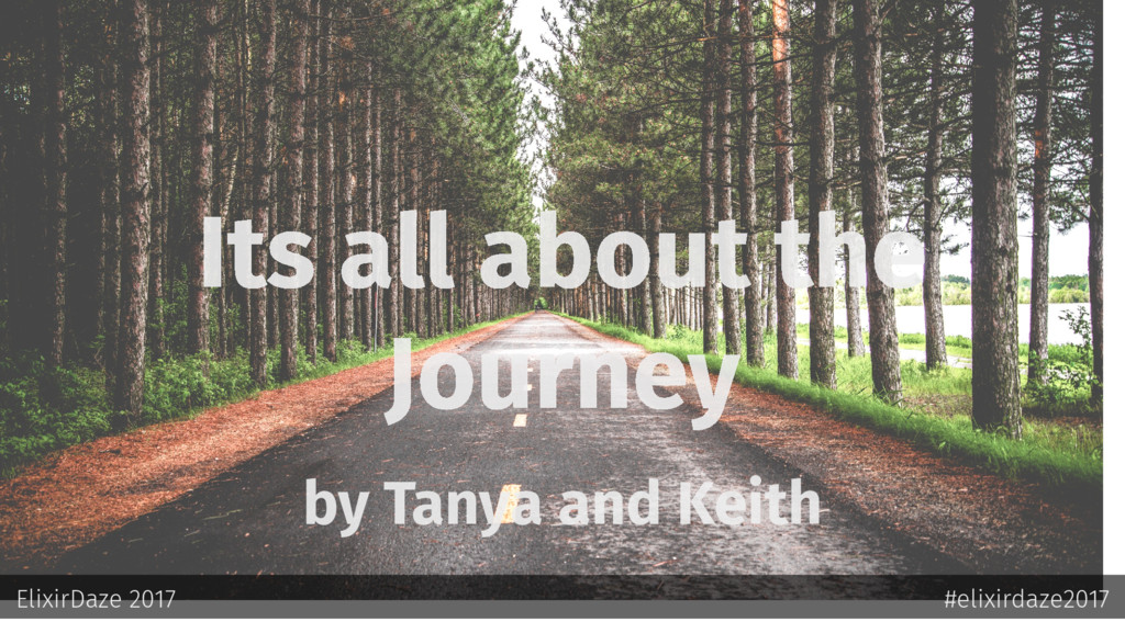 Its all about the Journey by Tanya and Keith El...