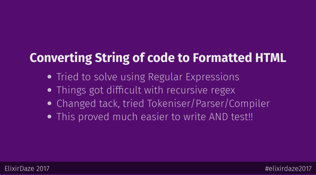 Converting String of code to Formatted HTML Tri...
