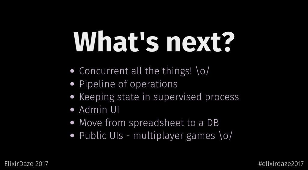 What's next? Concurrent all the things! \o/ Pip...
