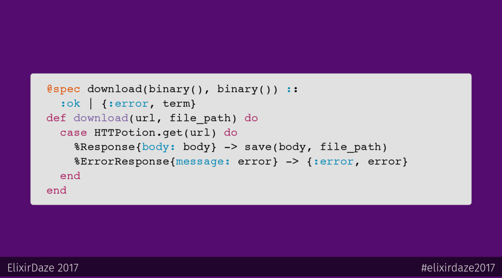 @spec download(binary(), binary()) :: :ok   {:e...