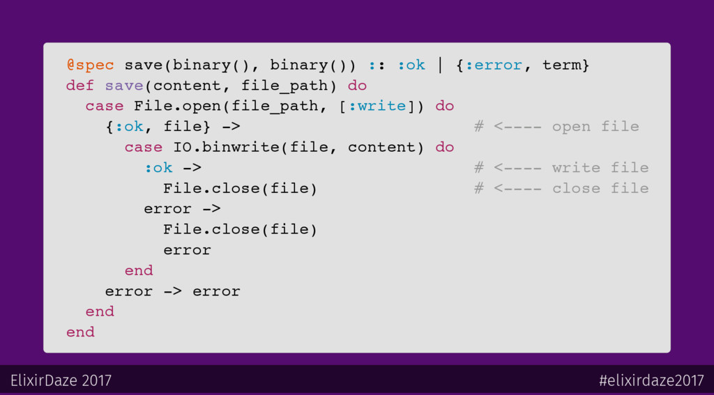 @spec save(binary(), binary()) :: :ok   {:error...