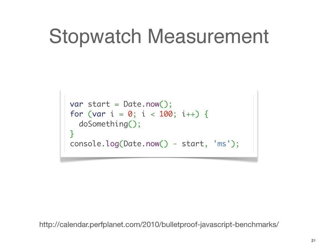 Stopwatch Measurement http://calendar.perfplane...