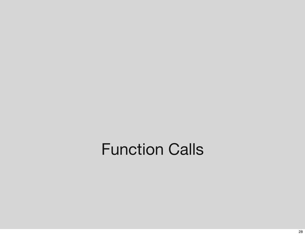 Function Calls 28