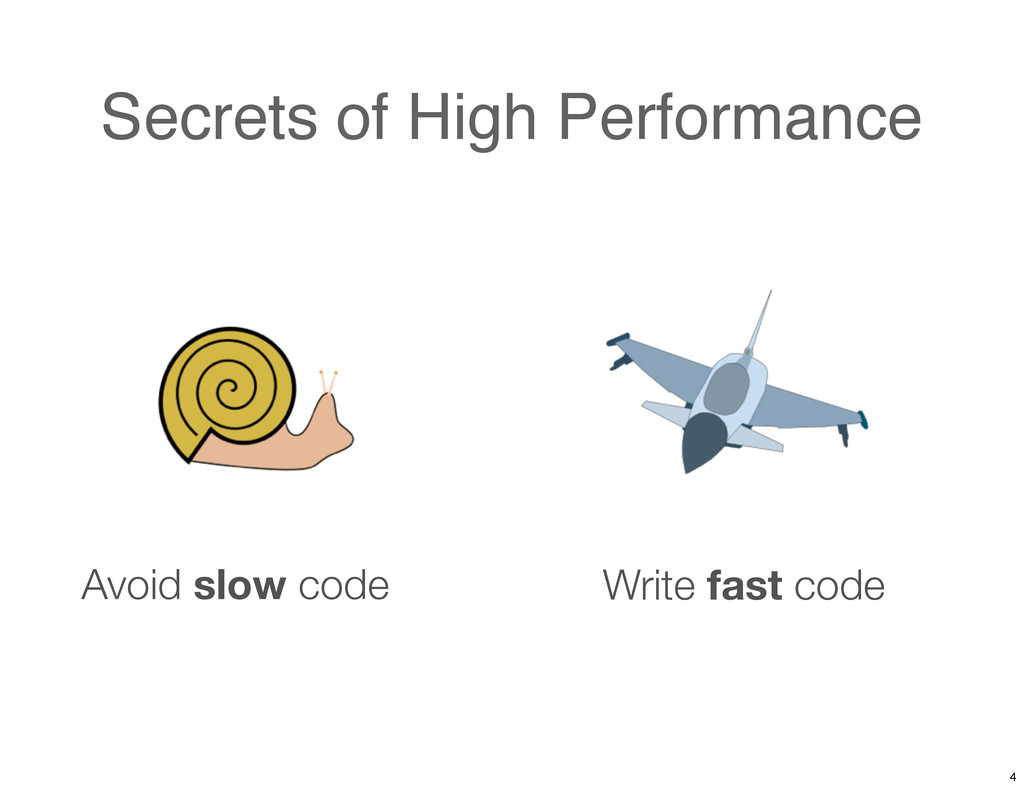 Secrets of High Performance Avoid slow code Wri...