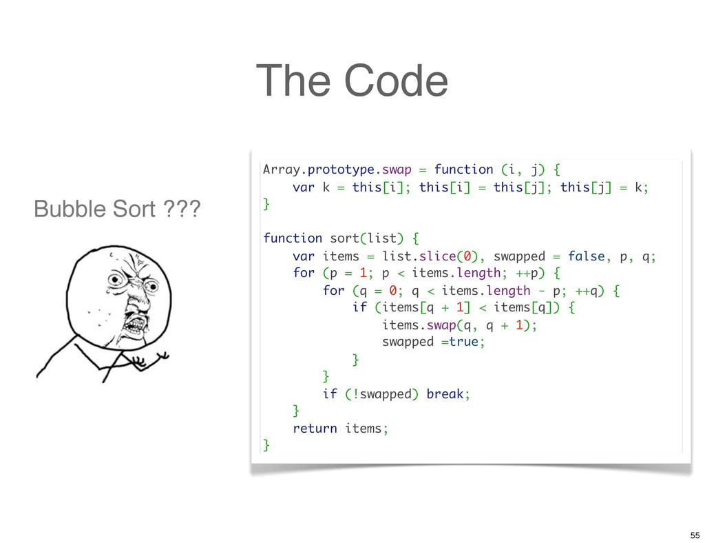 The Code Array.prototype.swap = function (i, j)...