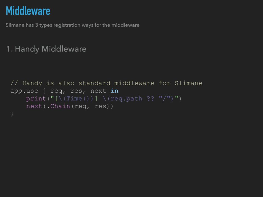Middleware Slimane has 3 types registration way...