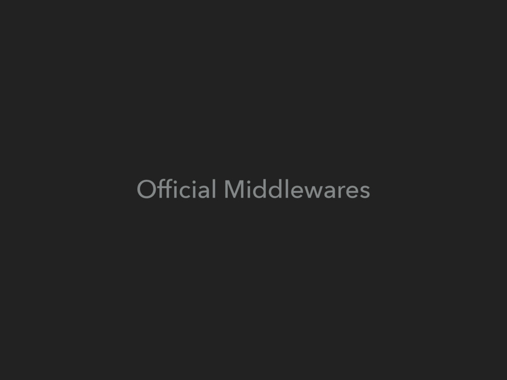 Official Middlewares