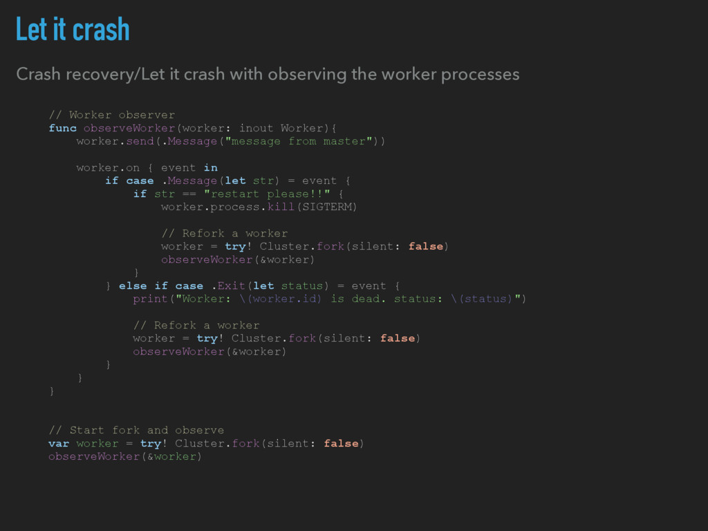 Let it crash Crash recovery/Let it crash with o...