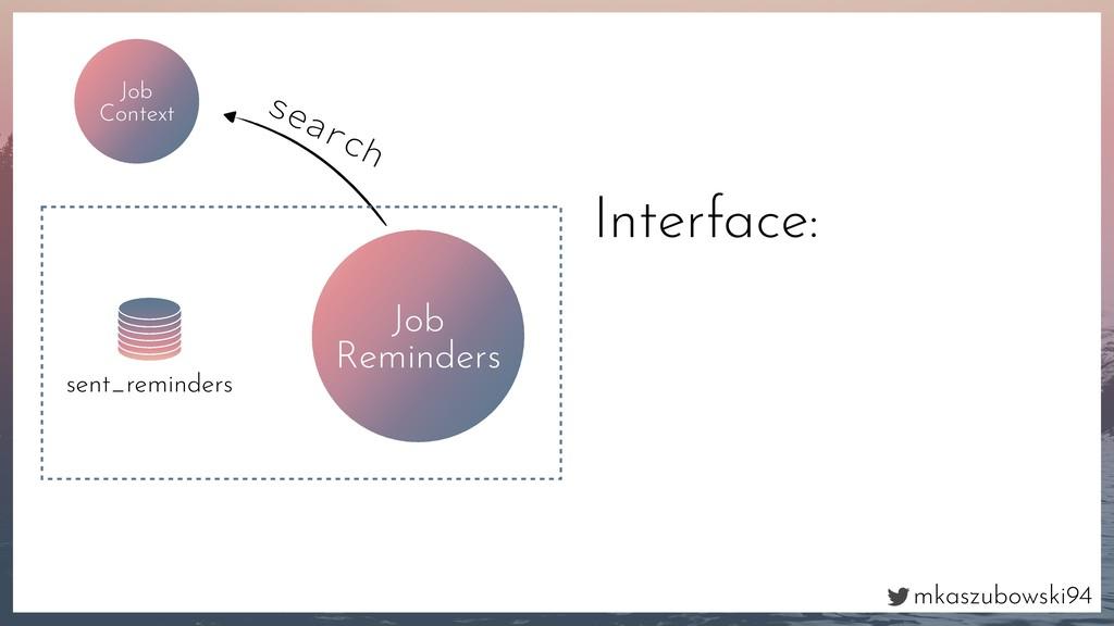 mkaszubowski94 Interface: Job Context search Jo...