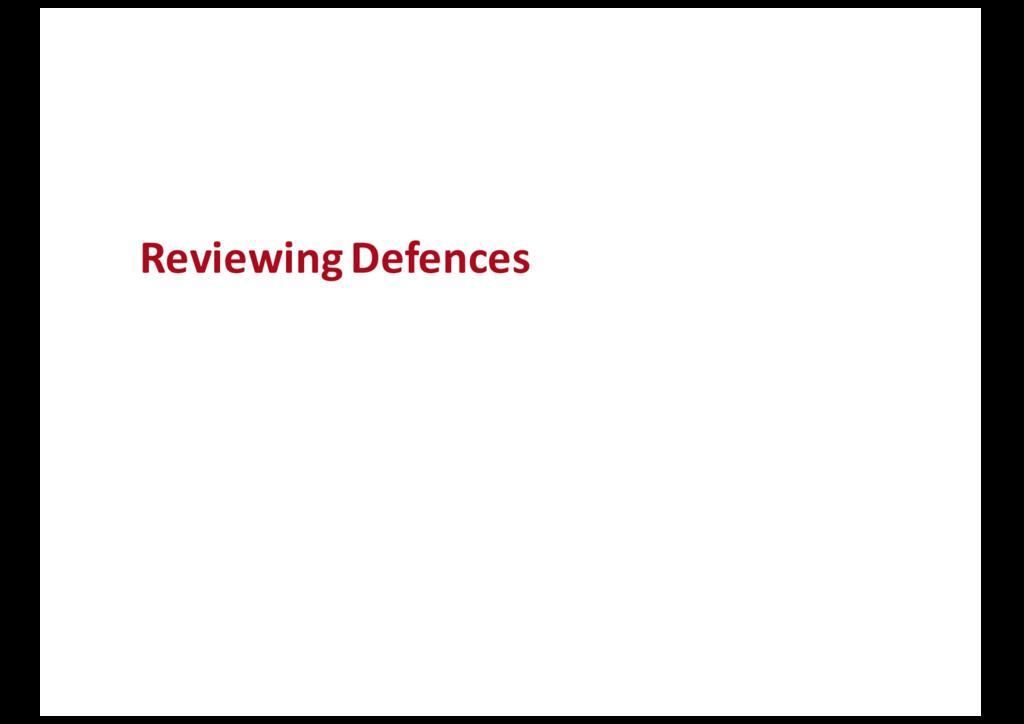 Reviewing Defences