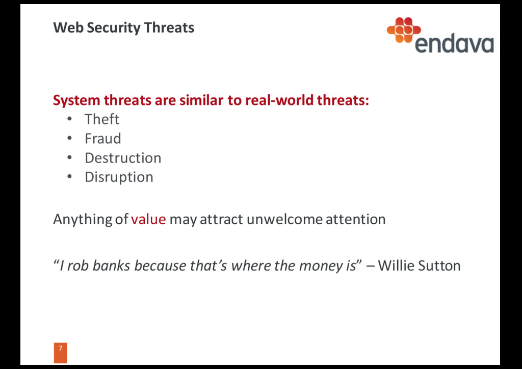 7 7 Web Security Threats System threats are sim...