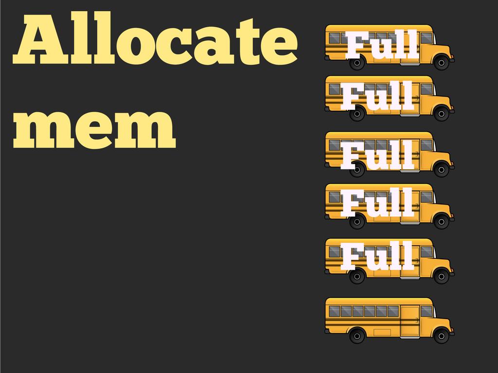 Allocate mem Full Full Full Full Full